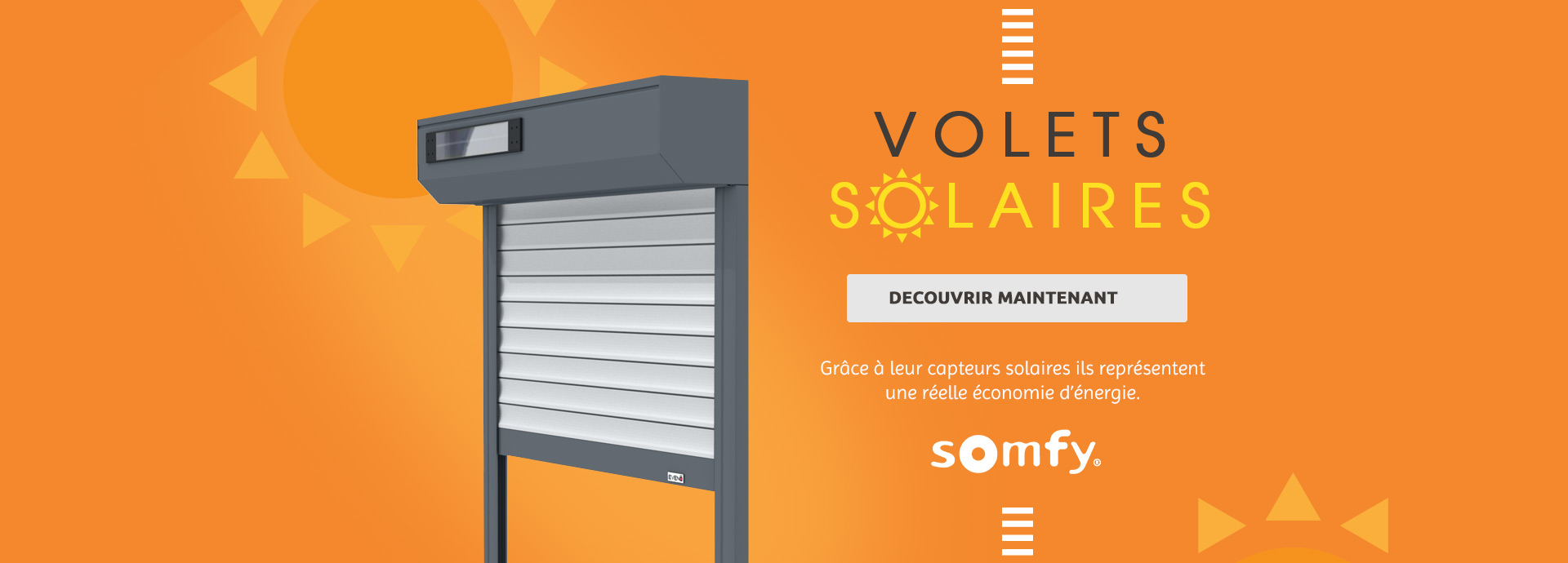 Volets solaires somfy
